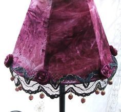 Gothic Atmosphere Velvet Table Lamp With Handmade by AnatBon, $91.00