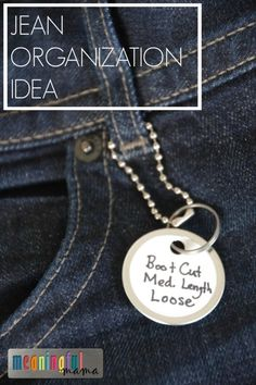 Jean Organization Idea - DIY Life Hack