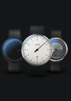 Einzeigeruhr UNO 24 von Botta-Design – Das 24h-Original
