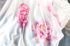 Heaven Scent Pure Silk Crepe Back Satin Pure Silk Satin Double Georgette Individually Hand Painted Artwork can be personalized for unique design Lining Pure Silk Button And Loop. Pure Silk, Silk Satin, Bridal Gowns, Heaven, Hand Painted, Collections, Pure Products, Wedding Dresses, Bridal Dresses