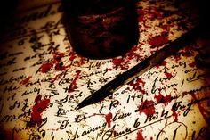 sangre escrevendo, polarize sua escrita