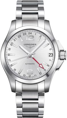 Longines Sport Conquest Steel Automatic Silver Dial Color Men Watch - L3.687.4.76.6 - Buy @ Ethos Watch Boutiques. All Watches are 100% Authentic and carry full warranty.