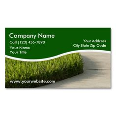 Landscaping Business Cards Custom Card Design Lawn Service
