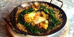 Kale and Wild Mushroom Paella - Bobby Flay's recipe from his new restaurant - GATO