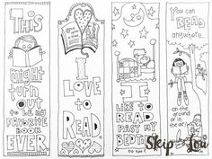 Free Printable Coloring Page Bookmarks | Free printable and Bookmarks