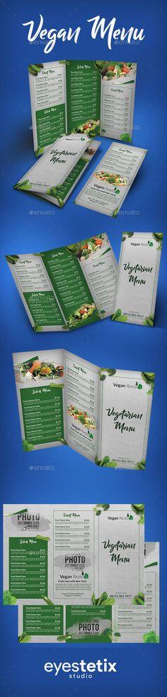 Vegan Menu - #Food #Menus #Print Templates