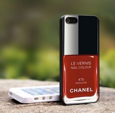 Chanel nail polish print case for iPhone.