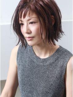 ヘアアンドメイク ジョジ(HAIR&MAKE JOJI) 外ハネセミウェット×オン眉ボブ