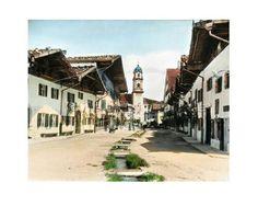 Bavarian village 1900 in Colour