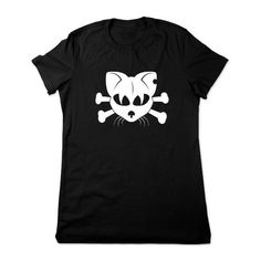 Funny Cat Shirt Funny Animal Shirt Cat T Shirt Gothic Cat Tshirt... ($16) ❤ liked on Polyvore featuring tops, t-shirts, black, women's clothing, v-neck shirts, skull t shirts, men shirts, v neck t shirts and v neck shirts