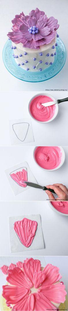 Как сделать простое и красивое украшение для любого торта на праздник! » Женский Мир