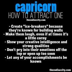 Capricorn... How to attract one