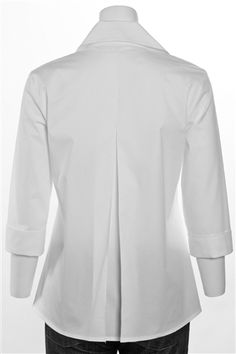 Three Quarter Sleeve Swing Shirt White
