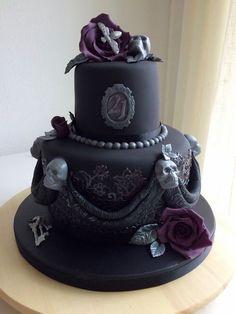 Image result for gothic glam birthday cake
