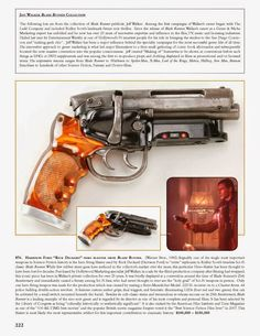 """BLADE RUNNER - The original prop made little sense as a """"functional"""" firearm, but looked great. Only one hero weapon was made for the production which was created by mating a Steyr-Mannlicher Model .222 SL receiver with dual triggers on to a Charter Arms .44 Special Police Bulldog revolver. It features custom resin grips and LEDs activated by a switch mounted beneath the barrel in a modified magazine well from the Steyr. Other studio props were rubber casts."""