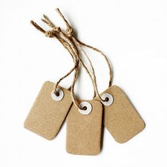 Don't throw away cardboard you get in the mail, use it to make gift tags – it's easy and cool!
