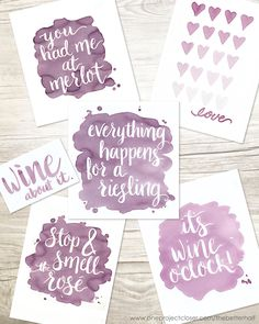 Ladies Night - Forget Watercolor. Paint with Wine! Lots of great tips and ideas for painting with wine plus free printables.