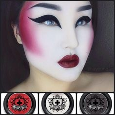 futuristic geisha inspired look using ‪#‎Sugarpill‬ Love+, Bulletproof and Tako eyeshadows