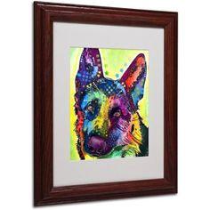 Trademark Fine Art German Shepherd Canvas Art by Dean Russo, Wood Frame, Size: 16 x 20, Multicolor
