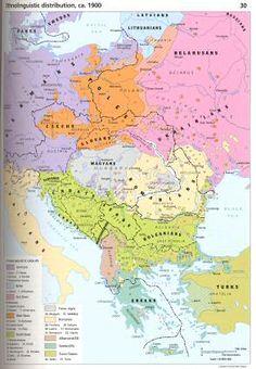 POLAND [1900] Ethnolinguistic Distribution, ca. 1900