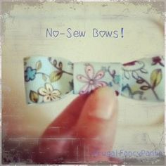 Hot Glue Hairbows, no sewing required! Get a perfect bow!