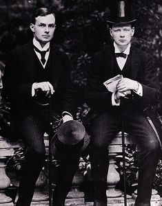 Was Winston Churchill secretly GAY? The British Prime Minister was close with his private secretary Edward Marsh (pictured together in 1907)