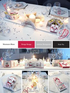Stampin Up, Deco Table Noel, Home And Deco, Decoupage, Holiday, Christmas, Table Decorations, Diy, Scrapbooking