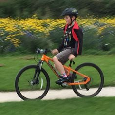 Putting dad to shame first time on clipless pedals and confidence for no hands! #prouddad #cycling #son #Islabikes by spudgjh