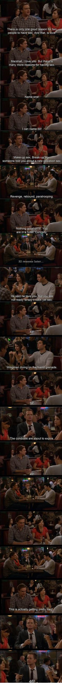 HIMYM - 50 reasons for sex.