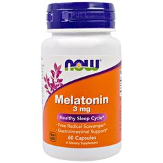 Now Foods, Melatonin, 3 mg, 60 Capsules iherb Now Vitamins, Vitamins For Women, Pregnant Nurse, Nutrition Jobs, Nutrition Activities, Nutrition Shakes, Nutrition Guide, Nutritional Cleansing, Good Manufacturing Practice