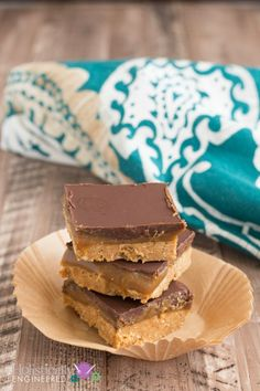 Caramel Almond Butter Bars - use the low carb caramel recipe listed at the bottom and all swerve instead of coconut sugar