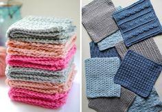 Hæklede karklude - 10 mønstre, der gavner miljøet Crochet Blanket Patterns, Knitting Patterns Free, Free Knitting, Crochet Home, Knit Crochet, Crochet Dishcloths, Cotton Pads, Loom Knitting, Knitting Projects