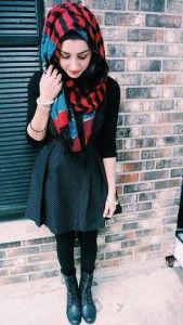 mix and match casual fashion hijab