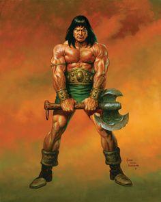 swordandsorcerytales:  Conan by Joe Jusko.