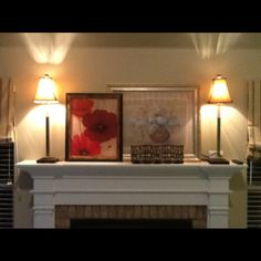 Add shaker pegs to your wood fireplace mantle for decorating ...