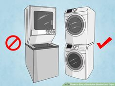 How to Buy a Stackable Washer and Dryer. Stackable washer and dryer sets are especially popular to people who have limited space in their home. They often fit inside of a closet, and with the new technology being used, they are as. Laundry Dryer, Laundry Closet, Laundry Room Organization, Small Laundry, Closet Redo, Laundry Storage, Kitchen Storage, Compact Washer And Dryer, Stackable Washer And Dryer