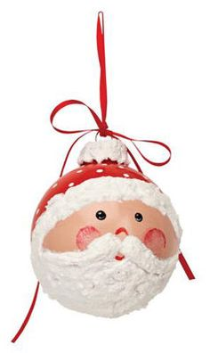 DIY Santa Ornament    Create this cute ornament for your tree, wreath or other décor.