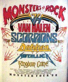 My first concert ever.  I was 15!!! Giants Stadium monsters of rock 1988 | Van Halen Monsters of Rock 1988