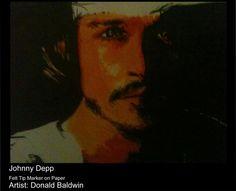 Johnny Depp - Magic Marker by Don J. Baldwin