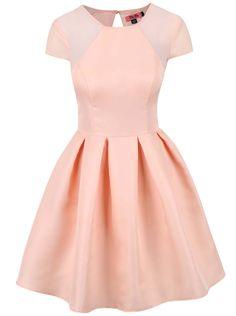 6e03f649f8e9 Meruňkové šaty se skládanou sukní Chi Chi London Olympia