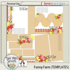 35% off new Collection by TwinMomScraps! Funny Farm TEMPLATES; http://store.gingerscraps.net/Funny-Farm-TEMPLATES.html. 24/05/2013