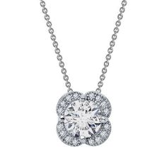 Diamonvita Couture® 2 1/4 ct. tw. Quatrefoil Pendant in Sterling Silver available at #HelzbergDiamonds #AisleStyle #Entry