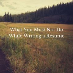 .http://www.ozresumes.net/resume-writer-services-singapore/what-you-must-not-do-while-writing-a-resume-in-singapore/ Book a Free Consultation here - http://www.ozresumes.net #ozresumes #resumessingapore #resumewritersingapore