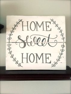 Rustic Home Decor, Home Sweet Home Sign ~ Rustic Pallet Sign, Hand Painted Pallet Sign, Customizable Rustic Pallet Sign by SweetChalkDesigns on Etsy https://www.etsy.com/listing/239153552/rustic-home-decor-home-sweet-home-sign