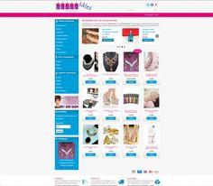 Δημιουργία ιστοσελίδας ηλεκτρονικού καταστήματος, με πωλήσεις μοναδικών προϊόντων εισαγωγής. www.wholesale-alindakanaki.com/