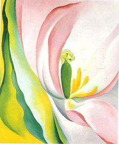 georgia o keeffe paintings Georgia O'keeffe, Renoir, Art Floral, Georgia O Keeffe Paintings, 4th Grade Art, Arte Popular, Pink Tulips, Art Plastique, American Artists