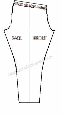 how to make your own leggings pattern / jak zrobić wykrój legginsów? | Anielska Aniela-Blog o przeróbkach i szyciu ubrań- Sewing and Refashion -Diy