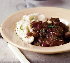 Braised beef with red wine & cranberry