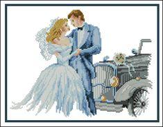 """Сачать схему вышивки """"Wedding car"""""""