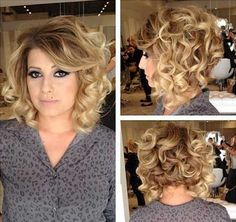 Bob & Curly Hair! Images and Video Tutorials! | The HairCut Web!